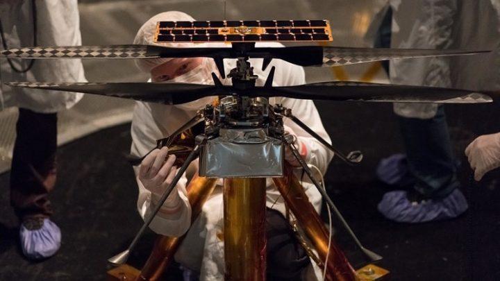 «La primera aeronave que viajará a Marte»: La NASA muestra imágenes de su helicóptero 'marciano' unido al nuevo 'rover' (FOTO)