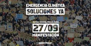 27 sept. Manifestaciones en toda España por el clima