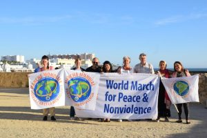 The 2nd World March for Peace and Nonviolence arrives in Cádiz