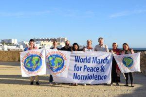 Llega a Cádiz la II Marcha Mundial por la Paz y la No Violencia