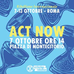 Roma: Extinction Rebellion apre il presidio a Piazza Monte Citorio
