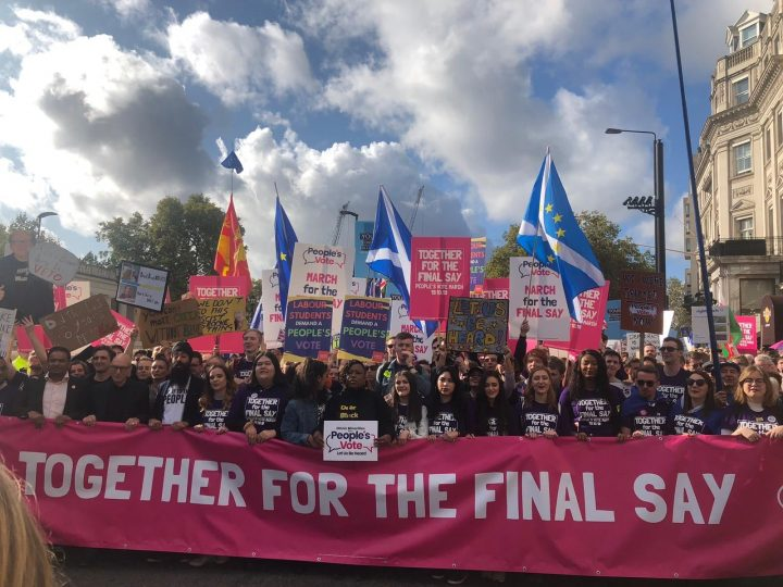 A million anti-Brexit protesters march on London streets demanding a People's Vote