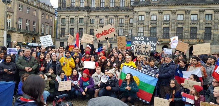 Manifestazioni di sostegno al Cile in tutto il mondo