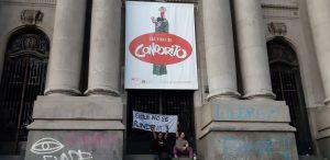 «Ce n'est pas la guerre, c'est la protestation», un jour de plus photographié à Santiago du Chili