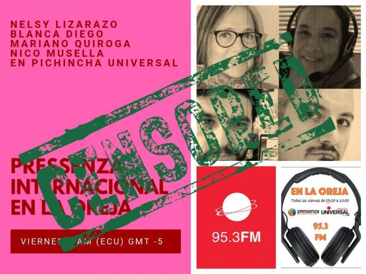 L'État équatorien a censuré le programme de radio de Pressenza International