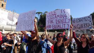 Roma, manifestación de solidaridad con el pueblo chileno