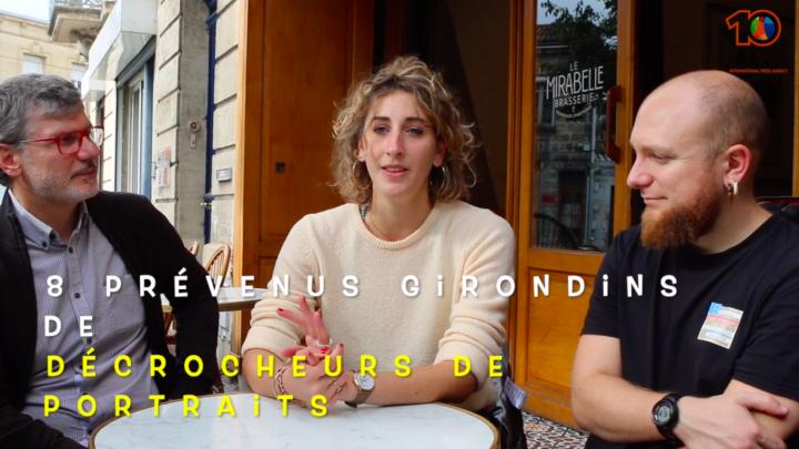Bordeaux. Interview des Décrocheurs de Portraits Girondins