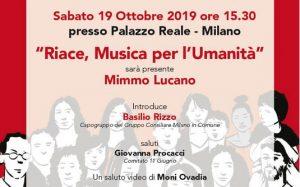 """Mimmo Lucano presenta a Milano il libro:  """"Riace, Musica per l'Umanità"""""""