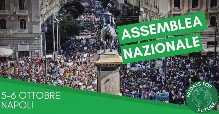 #FridaysForFuture Italia organizza la 2° Assemblea Nazionale a Napoli il 5 e 6 ottobre