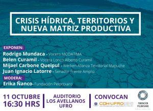 Chile: Foro en Temuco abordará la lucha por el agua y perspectivas de una nueva matriz productiva