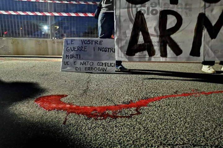 L'azione di boicottaggio contro le armi alla Turchia