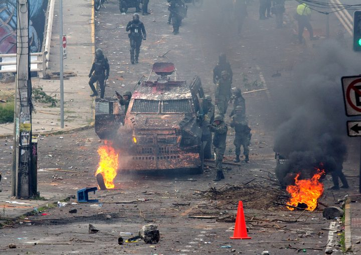 Repression in Yesterday's Protests in Quito
