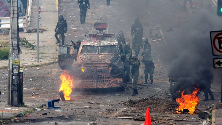 Day of protests in Quito