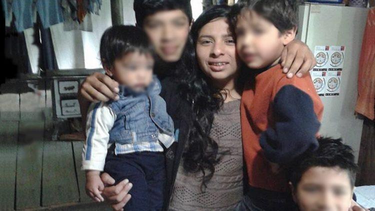 Macarena Valdes con i suoi figli