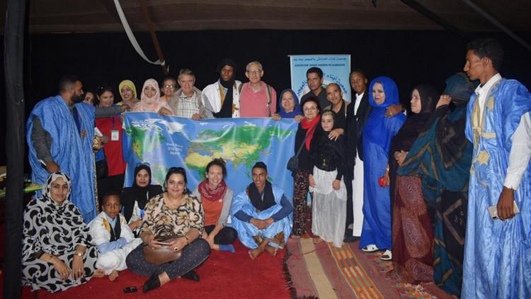 La Marche Mondiale arrive à Tan-Tan, Maroc