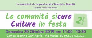 Roma – La comunità sicura, culture in festa