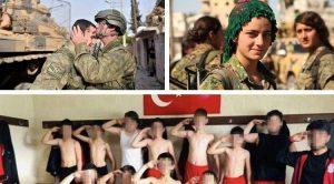 Lotta contro il terrorismo e le belle ragazze curde; pornografia della guerra