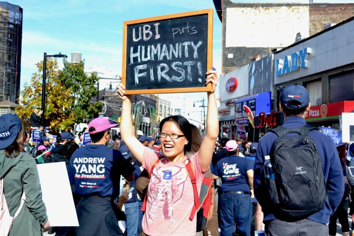 UBI March NYC 2019 Sign Humanity Firts
