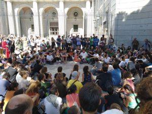 #2020RebeliónPorElClima sigue su desobediencia y acampa en Madrid