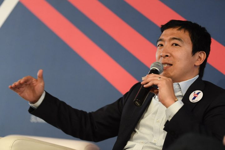 Andrew Yang in a Marathon to Answer Americans