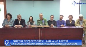 Chile: Magisterio llama a no asistir a clases mañana lunes