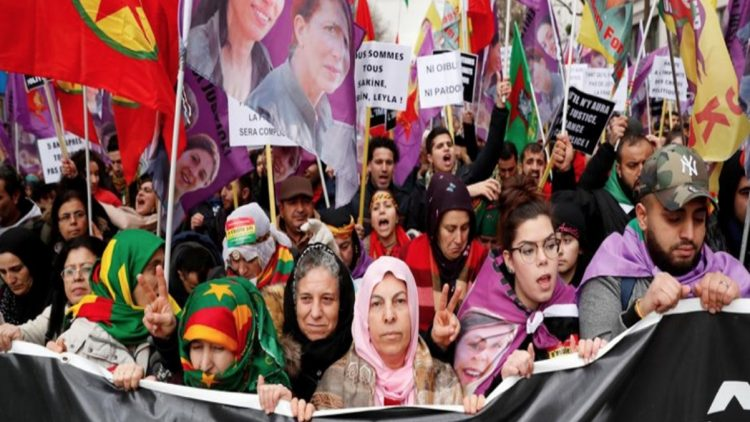 Corteo in solidarietà al Kurdistan