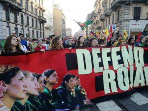 Migliaia a Milano per il Rojava