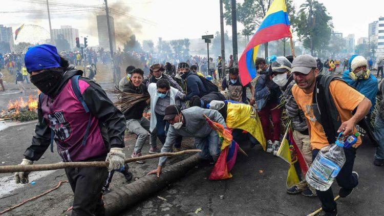 People's protest in Ecuador