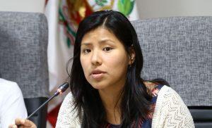 """Indira Huilca, congresista Nuevo Perú: """"Dar la lucha para evitar que se consolide una coalición de corruptos."""""""