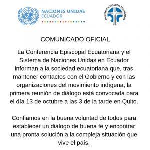 Actualización Ecuador: Habrá diálogo este domingo. ¿Habrá diálogo?