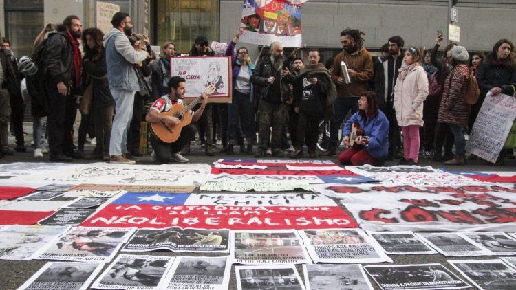 Berlin. Marche mondiale pour le Chili