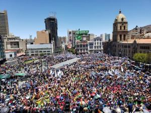 Bolivianos se concentraron en La Paz para respaldar la reelección de Evo Morales