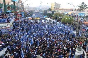 """Evo: """"A vitória da Bolívia será a derrota do neoliberalismo, do FMI e dos vende-pátria"""""""