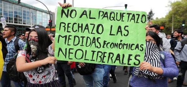 L'Ecuador in piazza contro il paquetazo