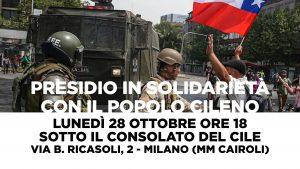 Presidio in solidarietà con il popolo cileno a Milano