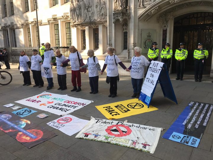 Extinction Rebellion targets arms industry: Disarm to Decarbonise