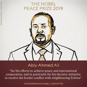 Το βραβείο Νόμπελ Ειρήνης 2019 πηγαίνει στον Πρωθυπουργό της Αιθιοπίας Αμπίι Αχμέντ