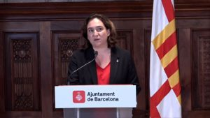 Declaration of the Mayoress of Barcelona on violent acts