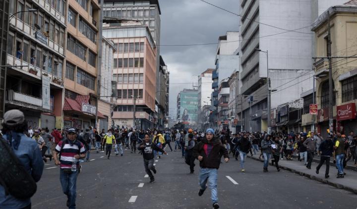 Lage in Ecuador eskaliert