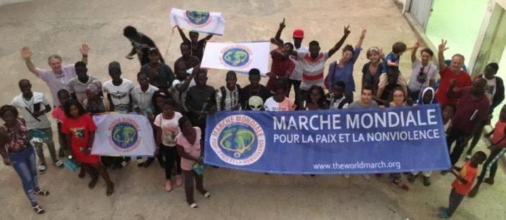 Entrée de la Marche Mondiale à Saint-Louis, Sénégal