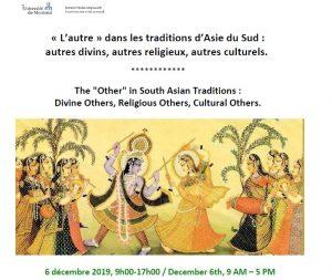 Le colloque « l'autre » dans les traditions d'Asie du Sud. Université de Montréal
