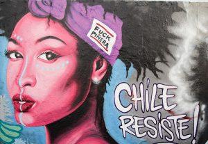 Mauerpark / Neues Graffiti für Chile aus Berlin