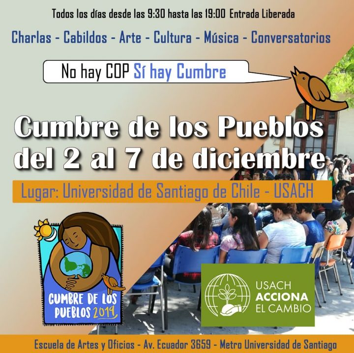 La COP25 non si terrà in Cile, il Vertice dei Popoli sì