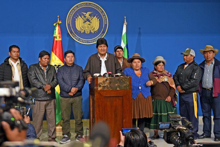 Evo Morales indice nuove elezioni