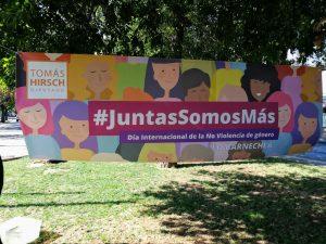 #JuntasSomosMás nel comune di Lo Barnechea, Santiago del Cile