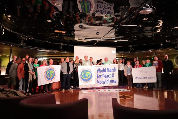 ICAN organisations meet at the Peace Boat in Barcelona