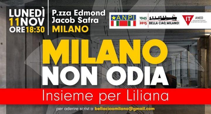 Milano non odia. Insieme per Liliana!