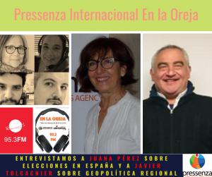 Elecciones en España y Geopolítica latinoamericana en Pressenza Internacional En la Oreja 22/11/2019