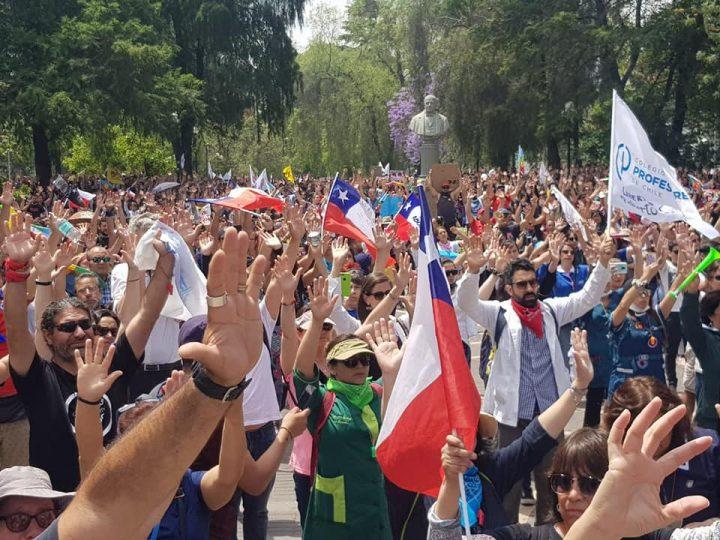 Marcha y acto multitudinario de los Profesores de Chile