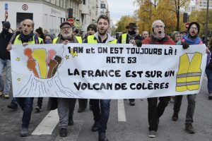 """Acto 53 de los Gilets Jaunes (Chalecos amarillos): """"Francia está en un volcán de ira"""""""